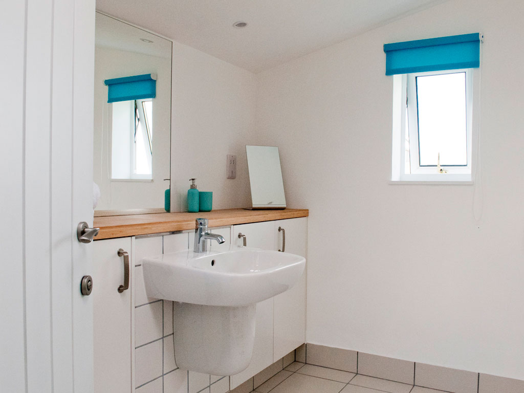 en-suite bathroom at Blue Beyond Cottage