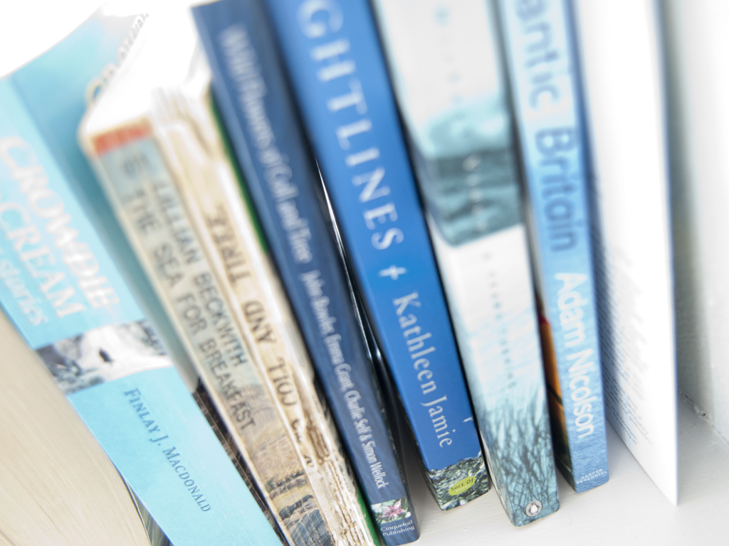 books at Blue Beyond Cottage