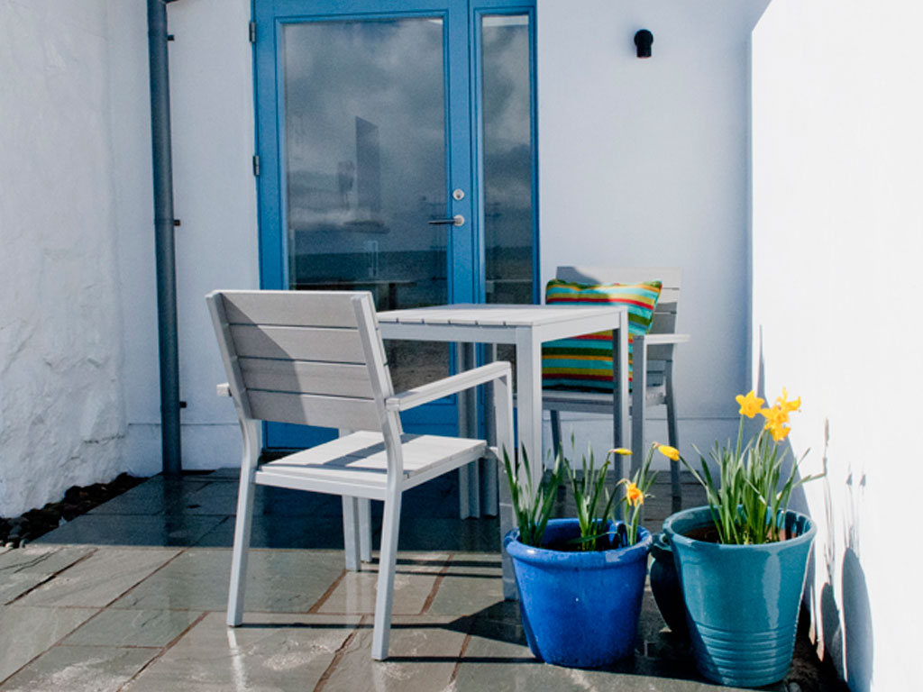 Blue Beyond Cottage Patio, Tiree