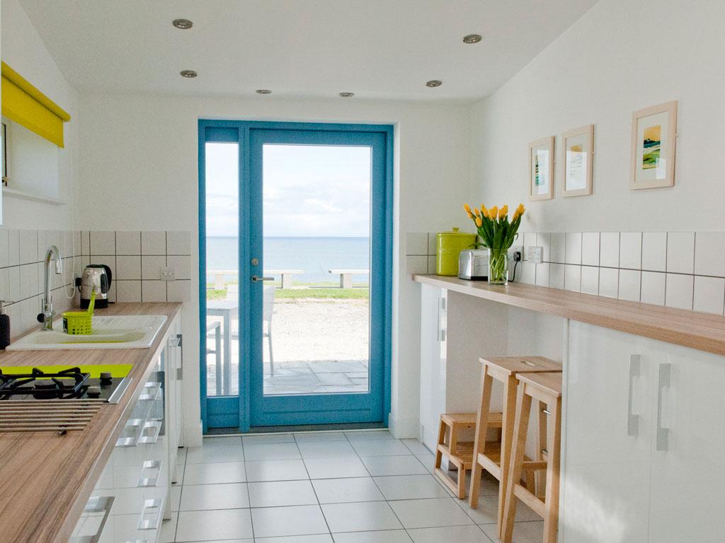 Kitchen at Blue Beyond Cottage Tiree
