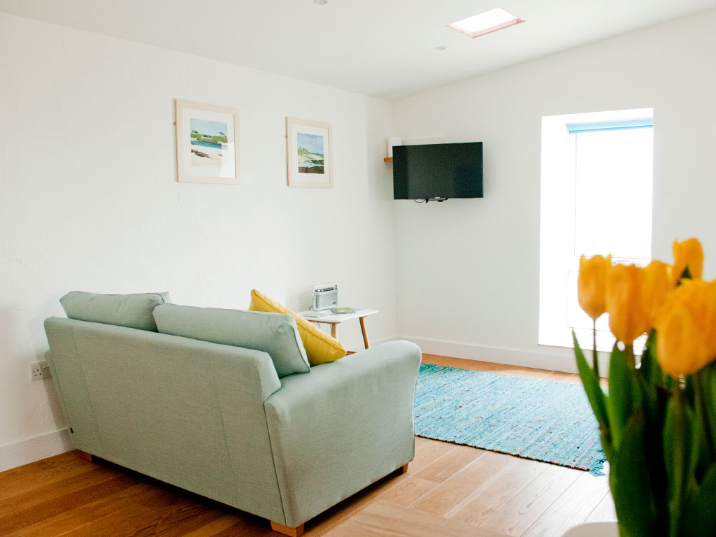 living room at Blue Beyond Cottage Tiree