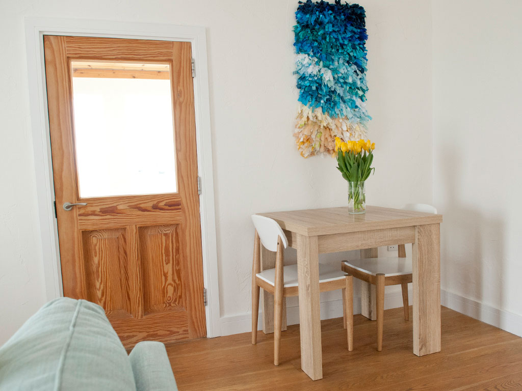 dining area at Blue Beyond Cottage Tiree