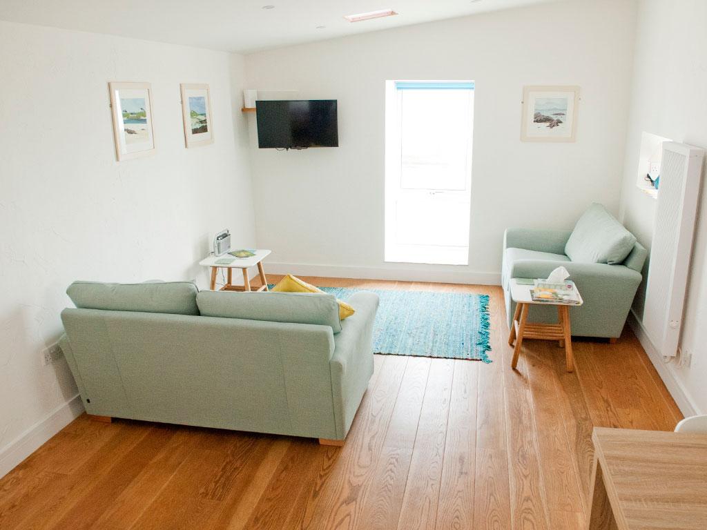 Living room at Blue Beyond Cottage